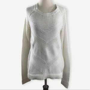 Lilly Pulitzer Sz M Cotton Cream Sweater